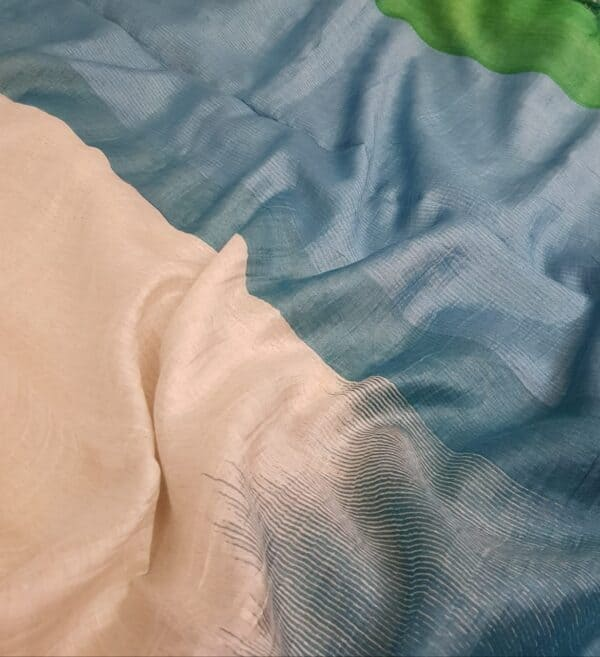blue green shaded moonga linen1