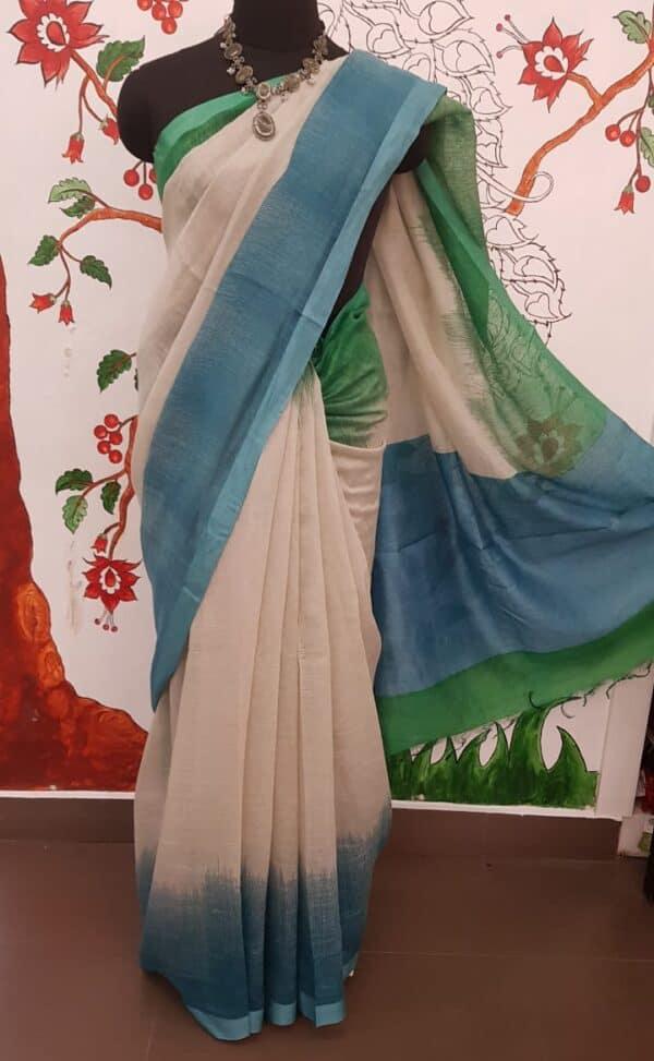 blue green shaded moonga linen11