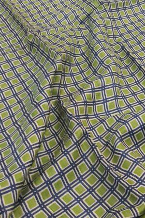 blue green squares zari border tussar saree2
