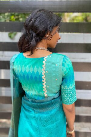 blue ikat blouse1