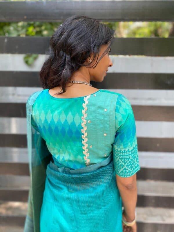 blue ikat blouse1