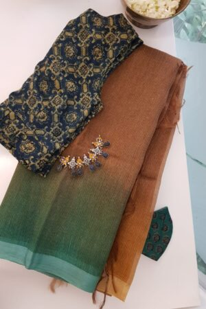 brown shaded moonga linen