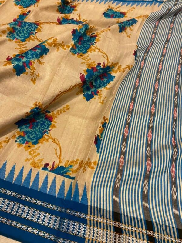 cobalt blue vidarbha tussar saree2