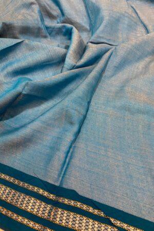 cobalt blue vidarbha tussar saree3