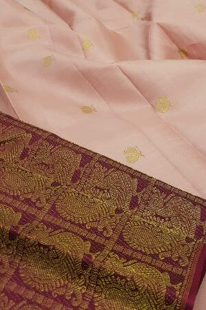 dusty pink shoulder saree1