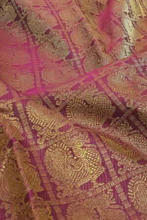 dusty pink shoulder saree2