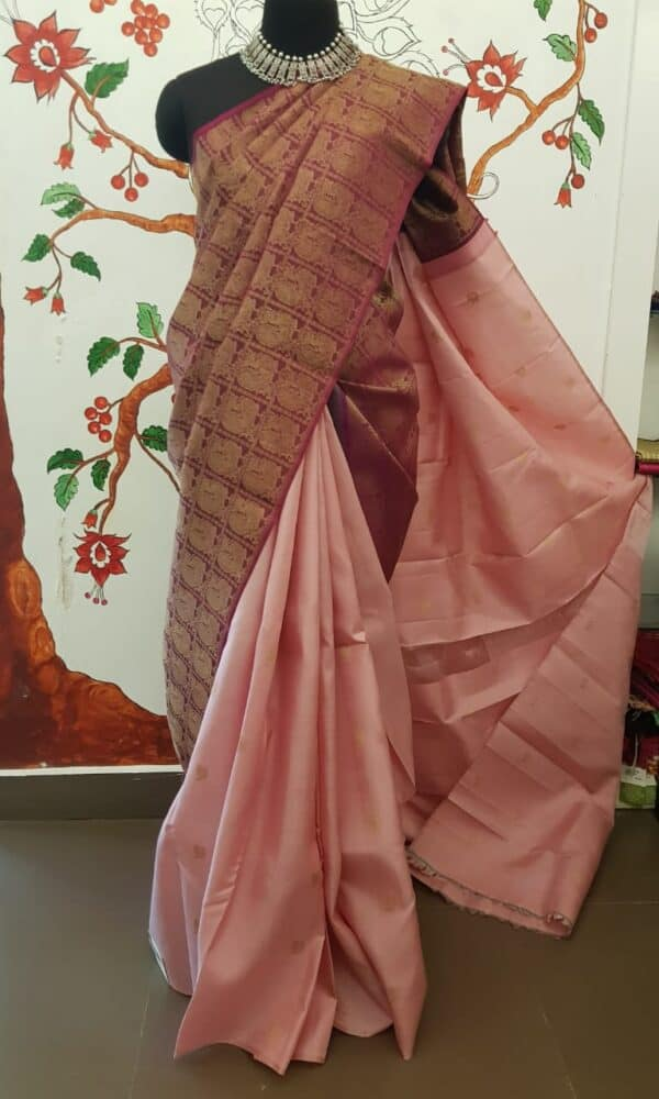 dusty pink shoulder saree4