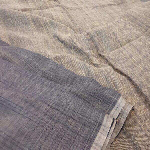 gey cotton saree