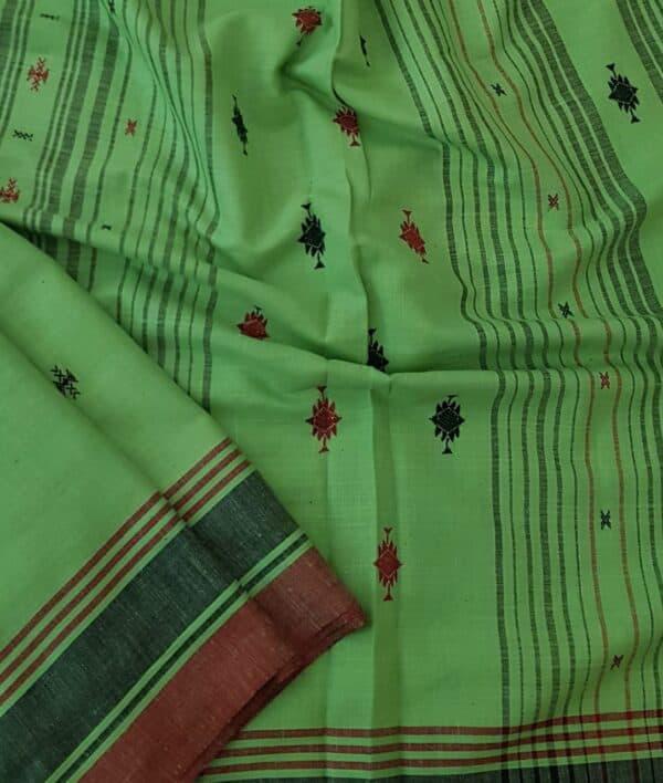green cotton saree1