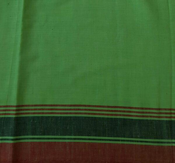 green cotton saree3