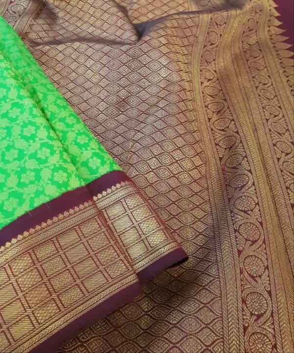 green korvai ganga jamuna saree2