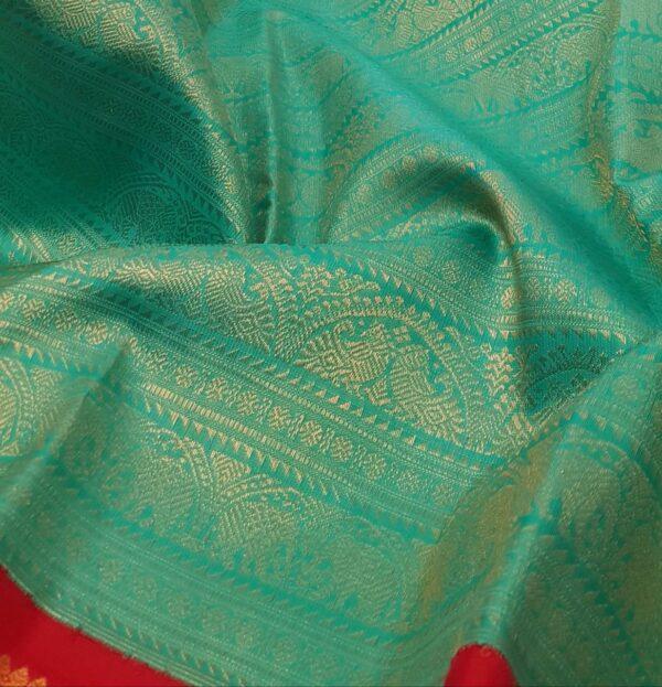 green with red korvai kanchipuram silk saree1