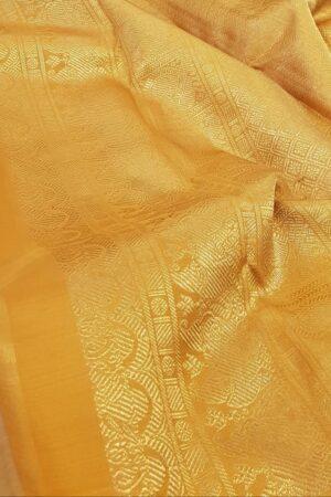 grey with mustard korvai kanchipuram silk saree3