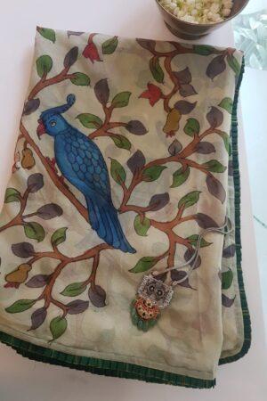 kingfisher saree