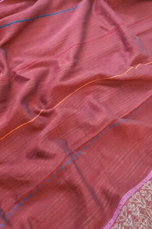 maroon cotton saree2