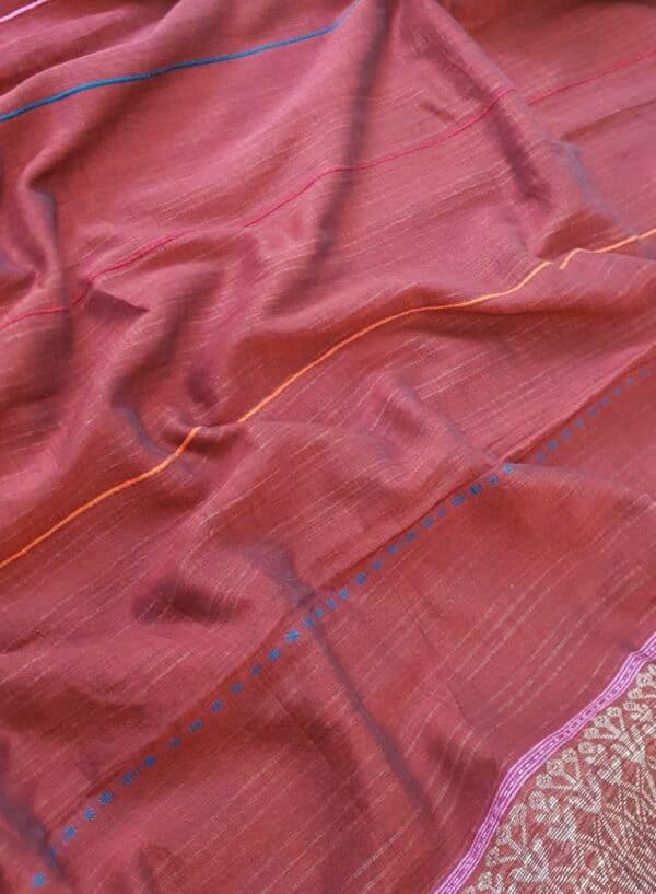 maroon cotton saree2