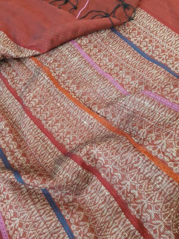maroon cotton saree3