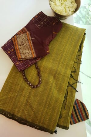 mehandi green saree