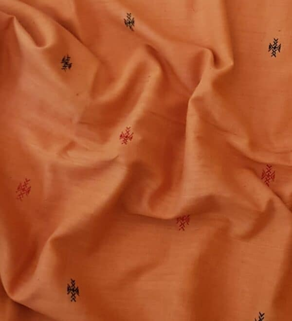 orange phulia cotton saree2
