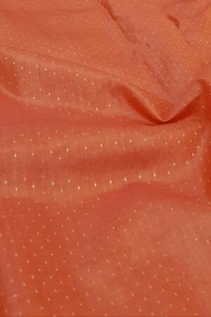 orange tussar saree with zari border2
