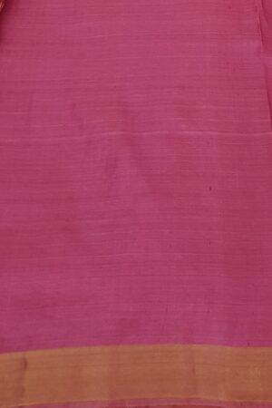orange tussar saree with zari border3