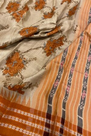 orange vidarbha tussar saree1