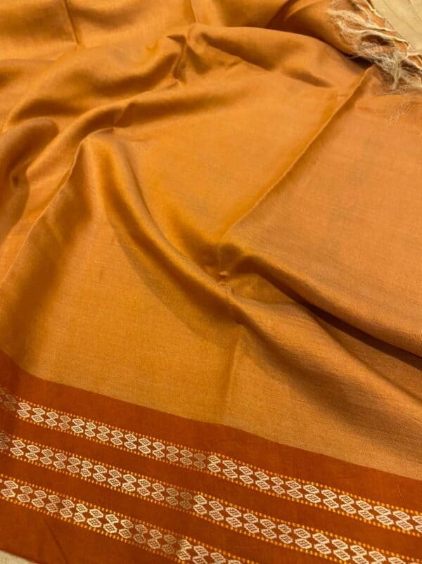 orange vidarbha tussar saree2