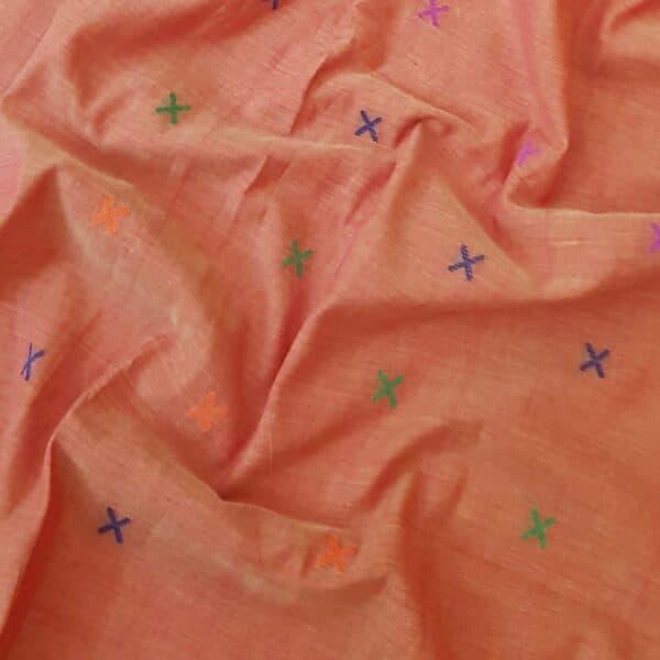 phulia cotton saree orange1