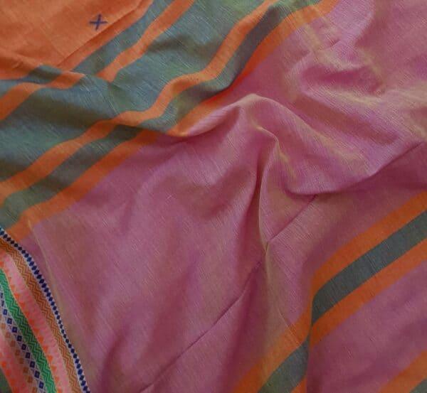 phulia cotton saree orange3