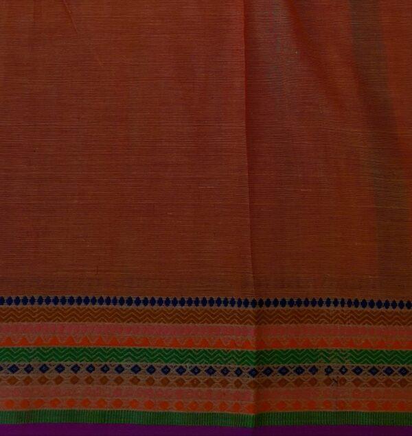 phulia cotton saree orange4