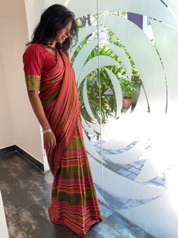 phulia heavy cotton saree