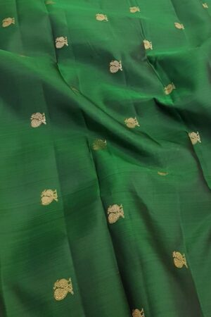 pink an dbottle green shoulder silk saree1