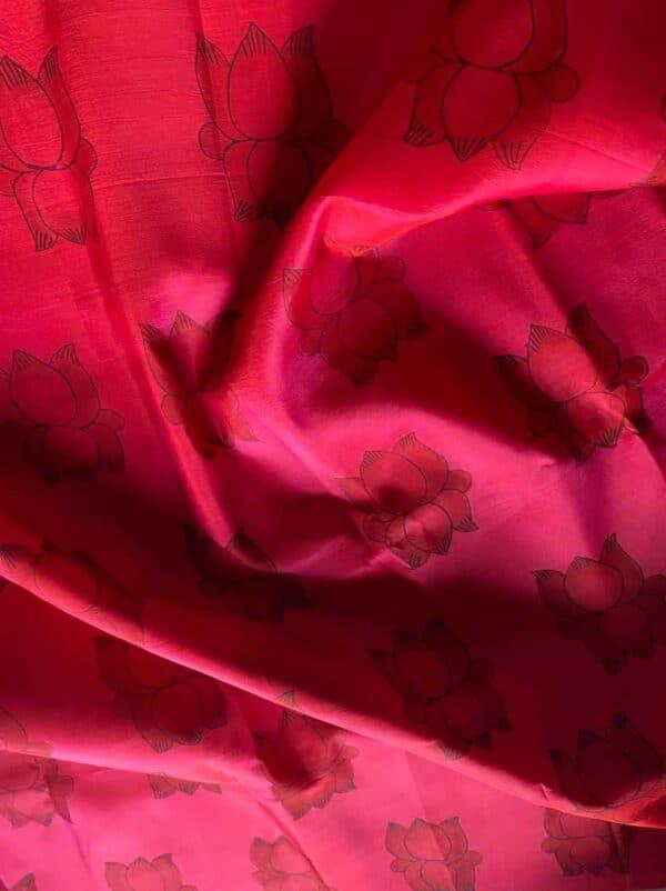 pink and black lotus