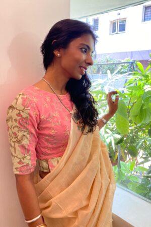pink cotton blouse