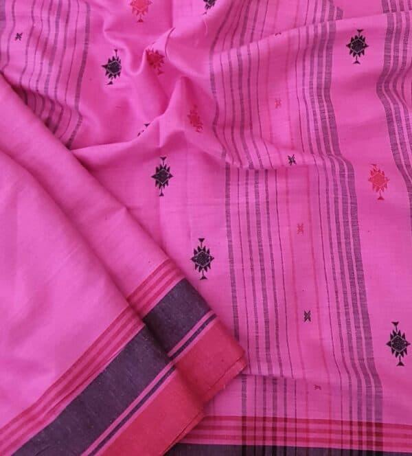 pink cotton saree1