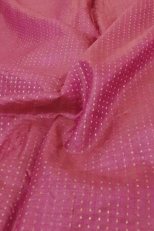 pink tussar saree with zari border2