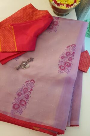 purple gulmohar saree