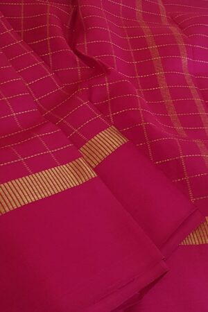 rani pink kanchi dupatta with zari checks1
