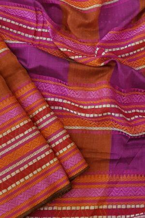 red phulia cotton saree1