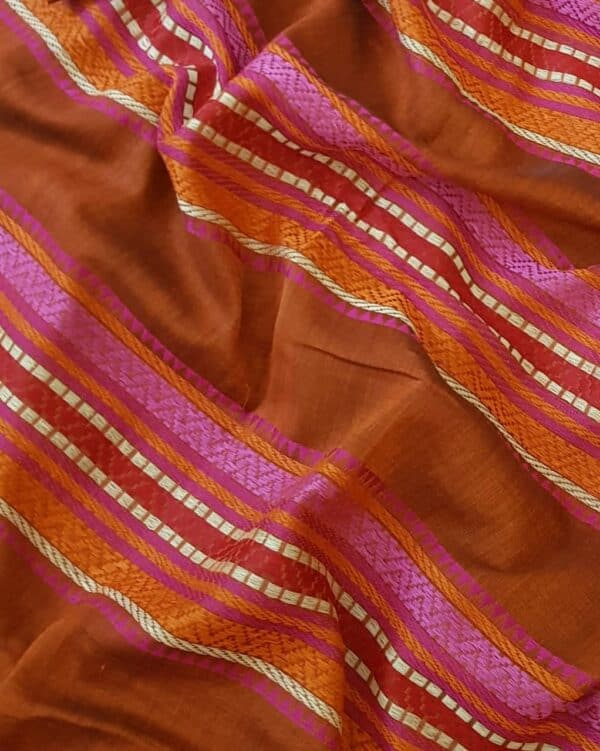 red phulia cotton saree2