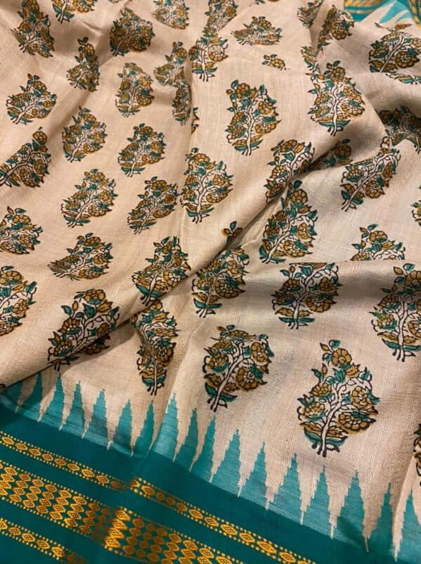 turquoise vidarbha saree