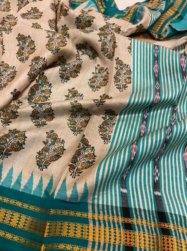 turquoise vidarbha saree1
