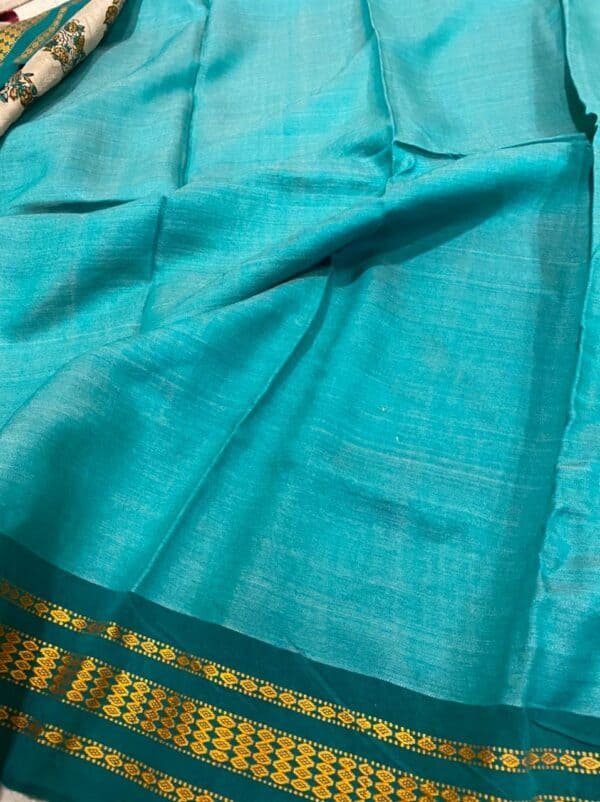 turquoise vidarbha saree2