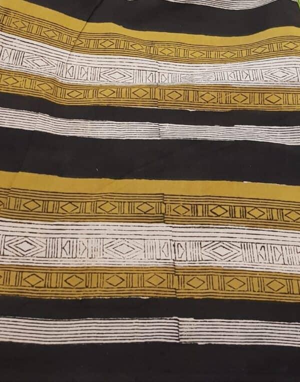 yellow beige and black zig zag kota saree with silk pallu1