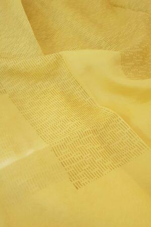 yellow rain drops with beige pallu3