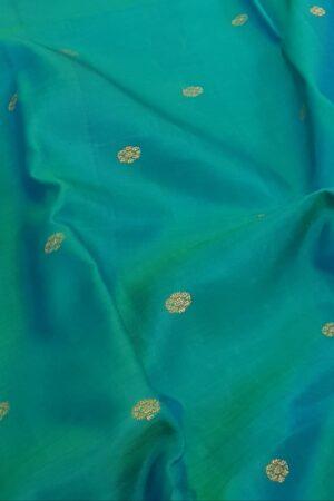 aqua green and blue kanchi silk saree1