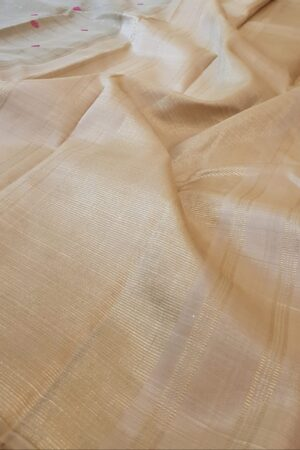 beige kora with with zari checks2