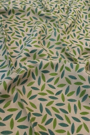 beige tussar saree with blue green prints2