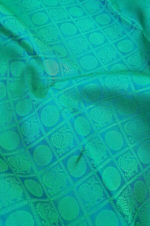 blue jacquard kanchi silk saree1
