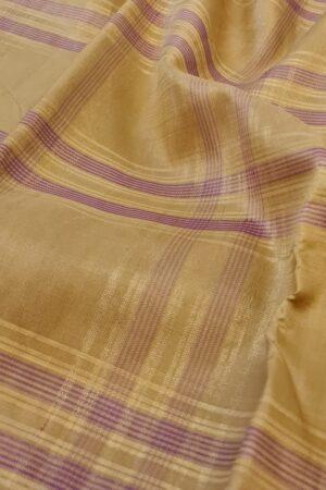 cream and gold kanchipuram silk saree with checks1
